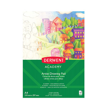Derwent Academy Artist Drawing Pad 110gsm 50 Sheets A4