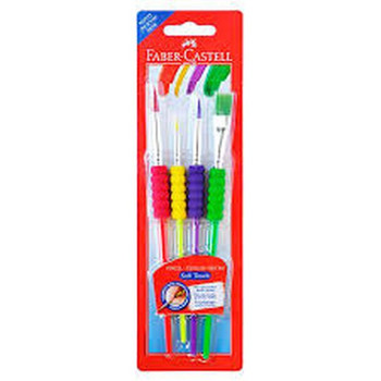 Faber-Castell Grip Accessory Paint Brush Pack 4
