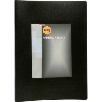 Marbig Non-Refillable Display Book A3 20 Pockets With Fram Black