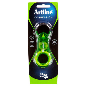 Artline Edit Key Ring Correction Tape Green
