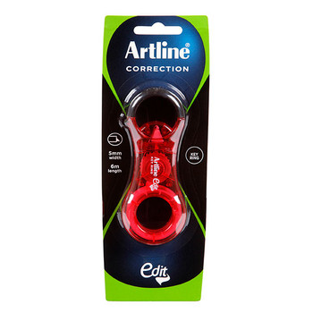 Artline Edit Key Ring Correction Tape Red