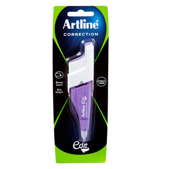 Artline Edit Retractable Correction Tape Purple