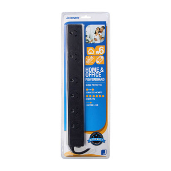 Jackson Surge Protected 6 Outlet Powerboard
