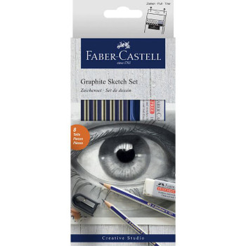 Faber-Castell Graphite Sketch Set 8 Piece
