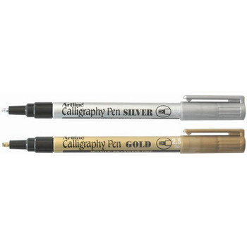 Artline 993 Calligraphy Marker Metallic 2.5mm Assorted Box 12