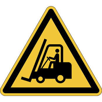 Durable 173404 Marking Sign Caution! Forklifts Yellow