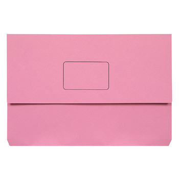 Marbig Slimpick Document Wallet Foolscap Pink Pack Of 50