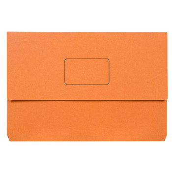 Marbig Slimpick Document Wallet Foolscap Orange Pack Of 50