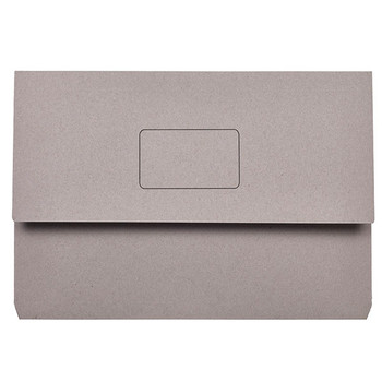 Marbig Slimpick Document Wallet Foolscap Grey Pack Of 50