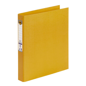 Marbig 2D Ring Binder A4 25mm PE Yellow Box of 6