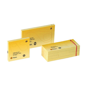 Marbig Yellow Notes 75 X 125mm Pack Of 12