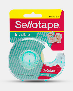 Sellotape Invisible Tape With Dispenser 18mm x 25M Pack 8