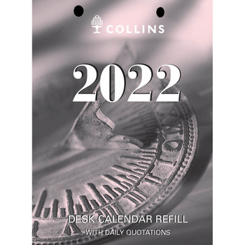 Collins Desk Calendar 2022  Refill Day To A Page Top Punch