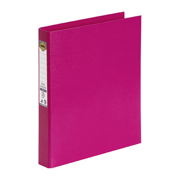 Marbig 2D Ring Binder A4 25mm Pink Box of 6