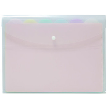 Marbig Document Wallet With 6 Files A4 Pastel 6 Pack
