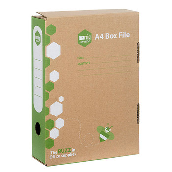 The Marbig Enviro document box is ideal for carrying and storing documents. Includes attached spring clip to secure documents.