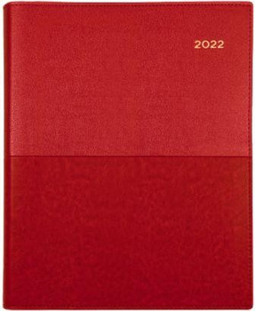 Collins 2022 Vanessa Pocket Diary B7R Week To View Red
