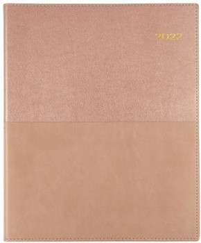 Collins 2022 Vanessa Pocket Diary B7R Week To View Rose Gold