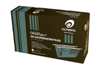 Olympic Suspension File Foolscap 100% Recycle Green EG Box 50