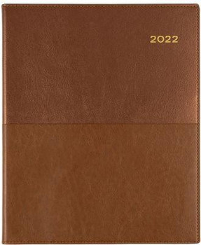 Collins 2022 Vanessa Diary A5 Day To Page Tan