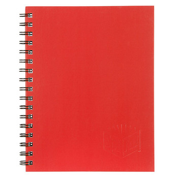 Spirax A4 Hard Cover Notebook 200 Page Red