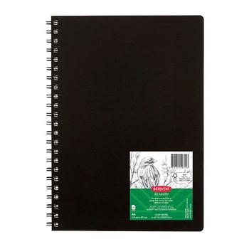 Derwent Visual Art Diary 110gsm 120 Page A4 Portrait Black