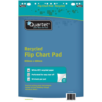 Quarted Flipchart Pad 60gsm 50 Sheets Recycled