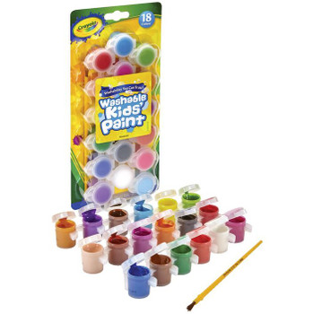 Crayola Washable Poster Paints With Brush 18 Pack