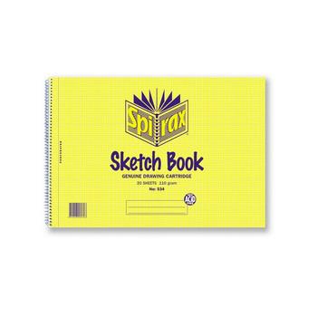 Spirax No. 534 A4 Sketch Book 40 Page