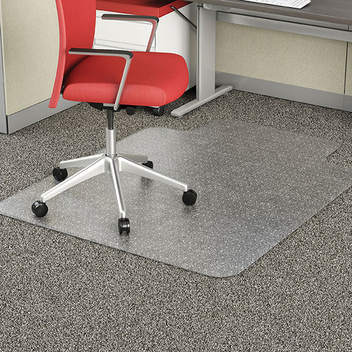 Marbig EconoMat Chairmat Small with key Hole 91 x 121cm