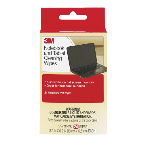 3M CL630 Notebook Screen Cleaning Wipes PK24