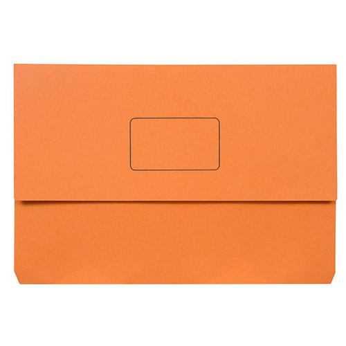 Marbig Slimpick Document Wallet Foolscap Orange Pack Of 50