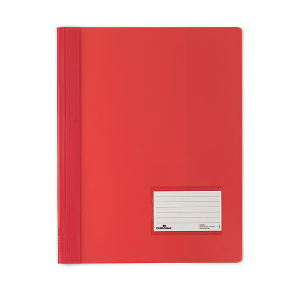 Durable Premium Flat File A4 Extra Wide Transluscent Red