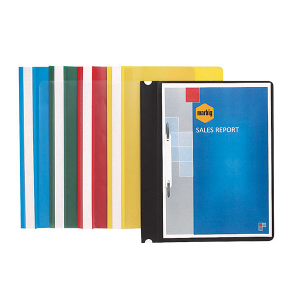 Marbig Flat File Economy A4 Clear Front Blue