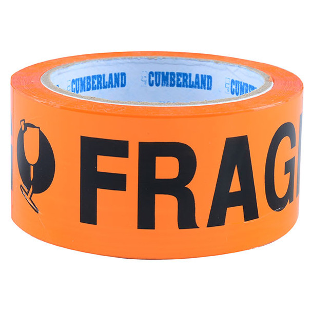 Cumberland Fragile Tape 48 mm x 66 m 6 Pack