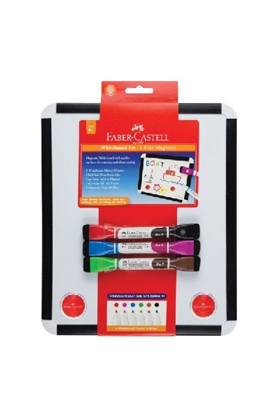 Faber-Castell Magnetic Whiteboard Set with Markers and Magnets