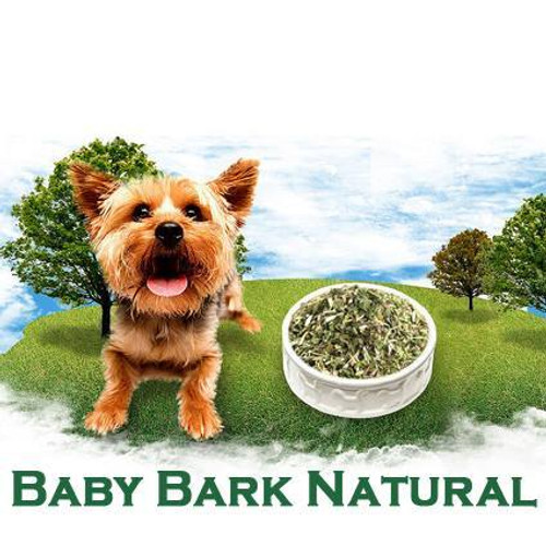 As the name suggests Baby Bark Natural is a Natural Dog food mix designed specifically for young dogs. It contains a dry mix of natural ingredients formulated by a Naturopath to enhance your dog's raw meat diet.