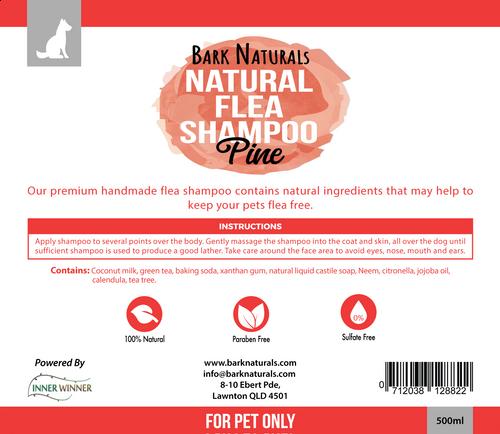 Bark Naturals Natural Flea shampoo - 500ml