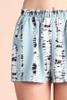 Sage Print Tie Dye Stripe Shorts Close up detail