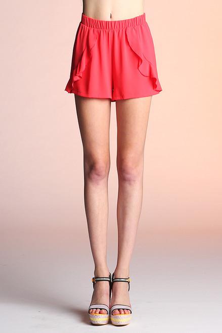 Lipstick Red Shorts