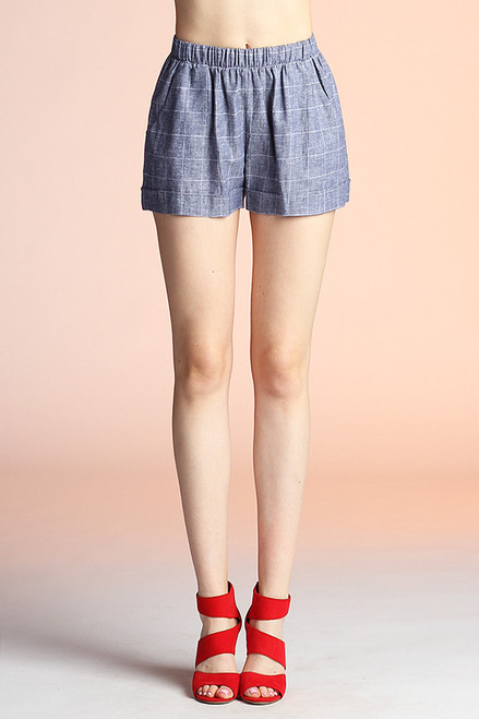 Denim Colored Shorts