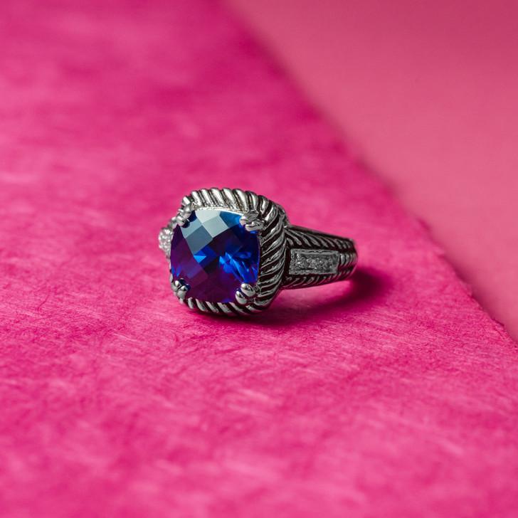 Astonish Sapphire Cubic Zirconia Ring