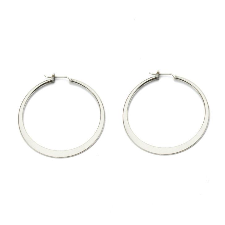 Hoop To It Silver Hoop Earrings