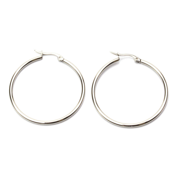 Circle of Life Stainless Steel Earrings