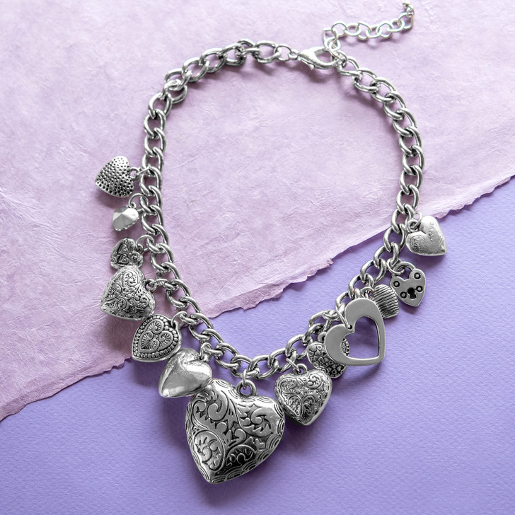 Full of Love Heart Charm Necklace