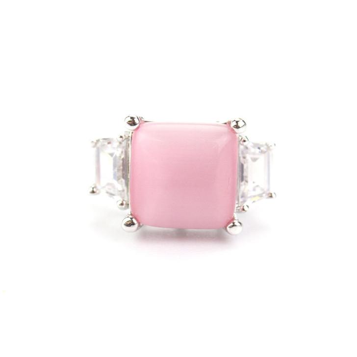 Laura Pink Cat's Eye Ring