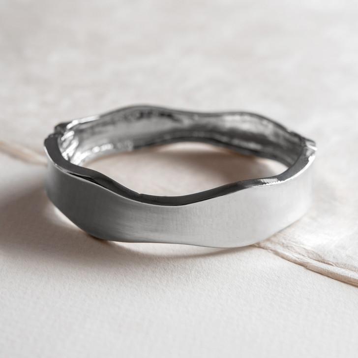 Liquid Silver Bangle Bracelet