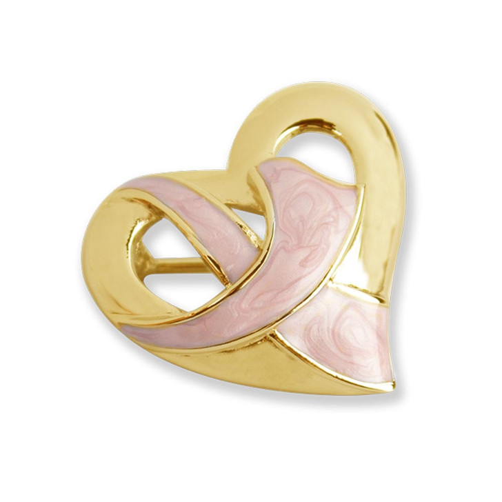 For A Cure Breast Cancer Pin in Gold