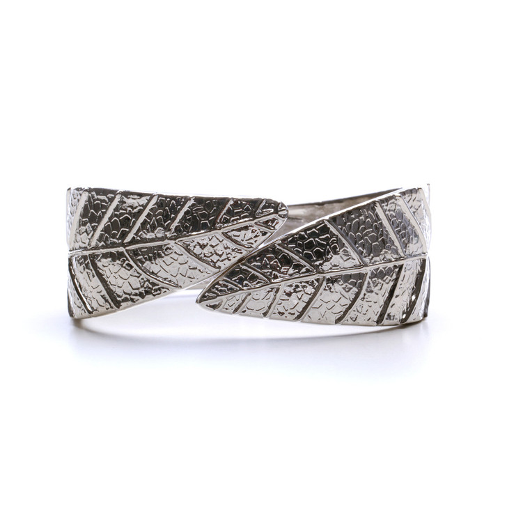 Petals Hinged Bangle Bracelet