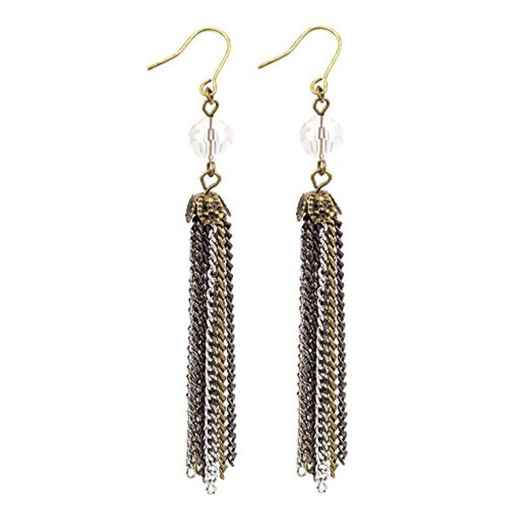 Free Fall Gold Tassel Earrings